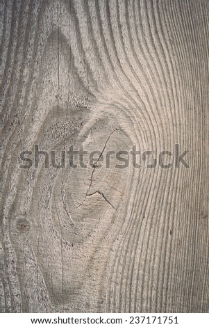 wooden plank with splinters and cracks - retro, vintage style look - stock photo