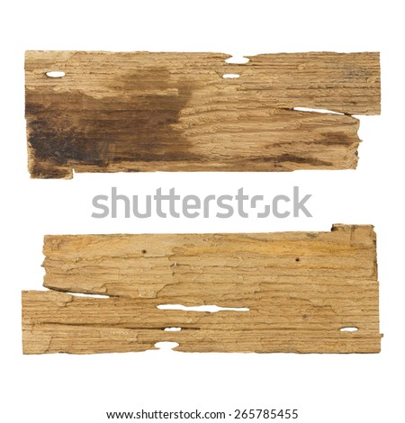 wooden planks isolated white background