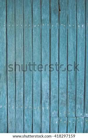 wooden planks, wooden background, blue
