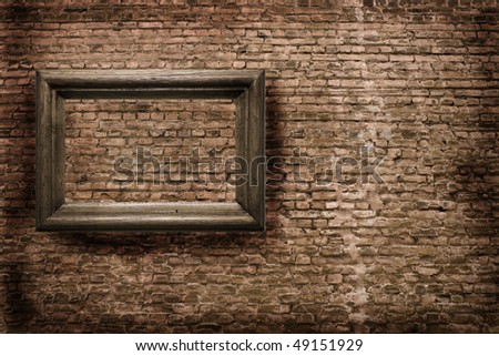 wooden print-holder on a background sraroy walls - stock photo