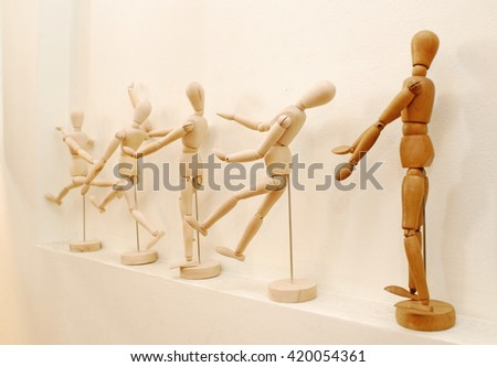 Wooden puppet - stock photo