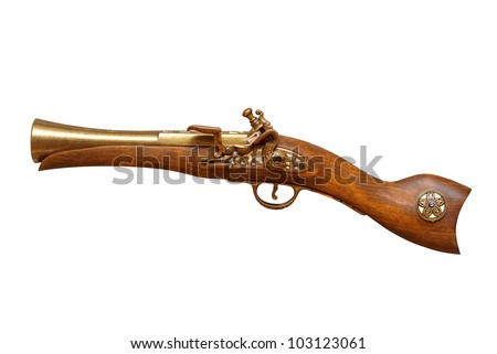 Wooden revolver - stock photo