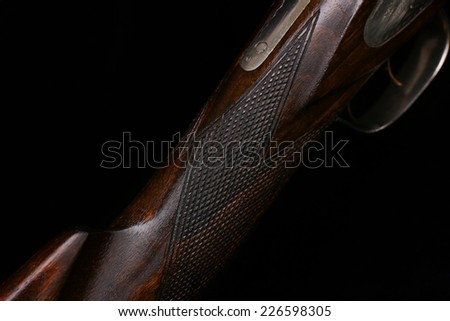 Wooden rifle butts - stock photo