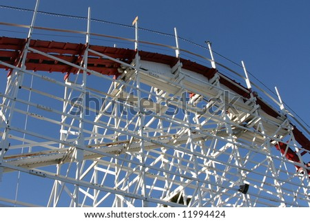 Wooden Rollercoaster - stock photo