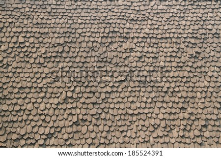 Wooden roof background  at Ban Dam museum in Chiang rai,Thailand. - stock photo
