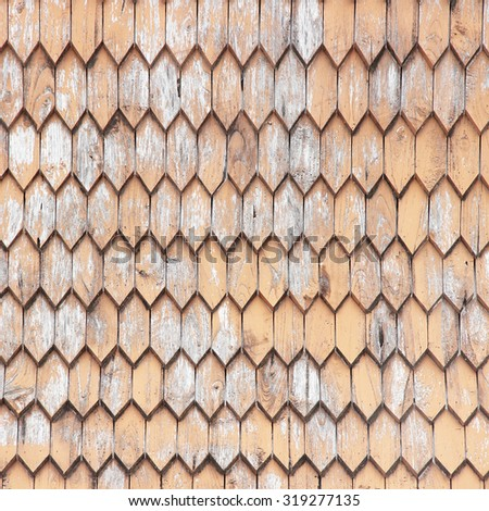 Wooden Roof; Old wooden - stock photo