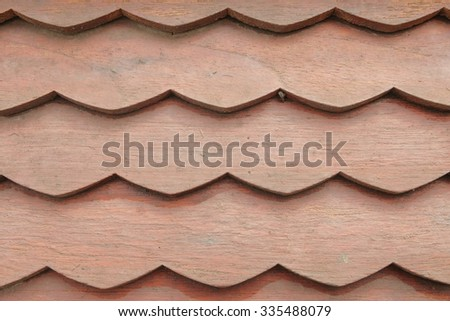 Wooden Roof Texture, - stock photo