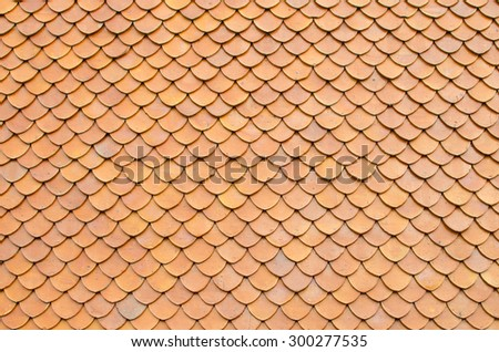 wooden roof tile of  house - stock photo