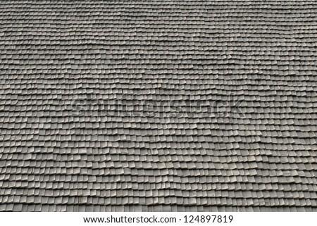 wooden roof tiles texture - stock photo
