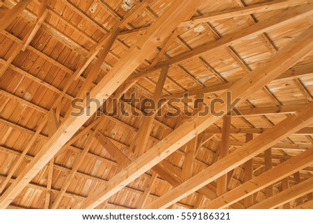Wooden Roof With Beams, Background