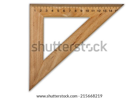 Wooden ruler  - stock photo