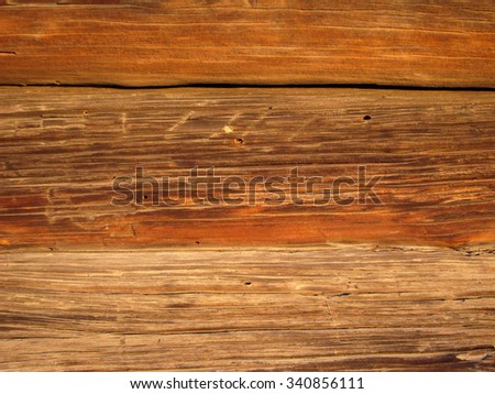 Wooden Rustic Vintage Plank Board Texture Background Closeup - stock photo