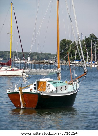 wooden sailboat - stock photo