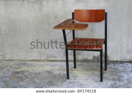 wooden school chair - stock photo