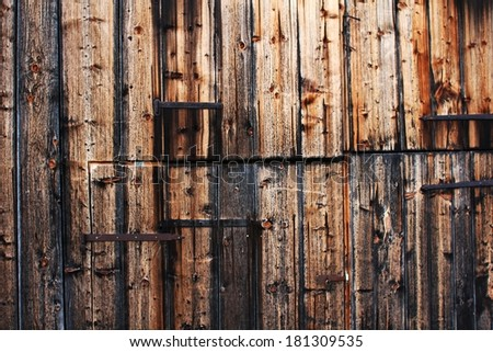 Wooden shack - stock photo