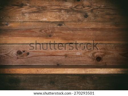 wooden shelf. - stock photo