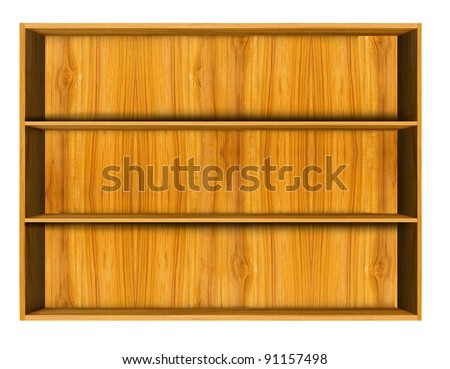 Wooden  shelf - stock photo