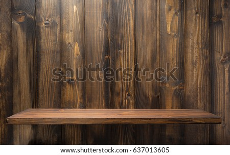 wooden shelf at background texture