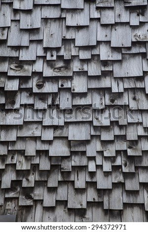 Wooden Shingles - stock photo