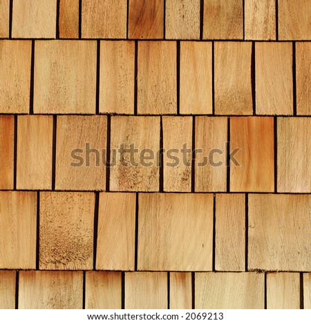 wooden shingles great for background or industry illustration - stock photo