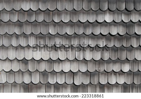 Wooden shingles old texture - stock photo