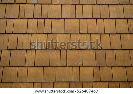 wooden shingles on a wall