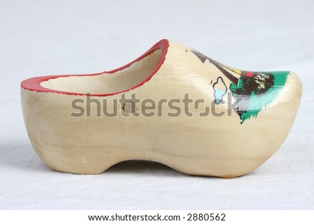 wooden shoe - stock photo