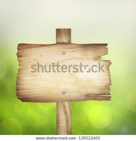 wooden sign background with - stock photo