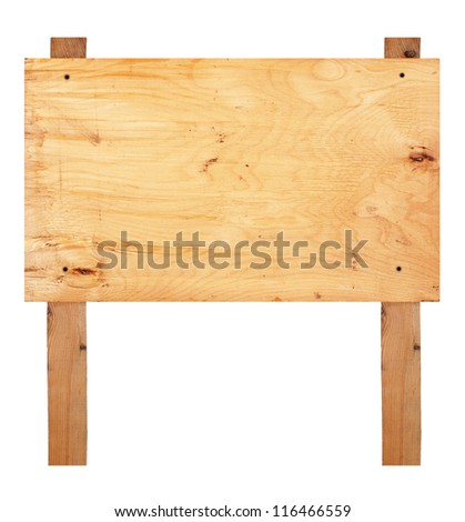 Wooden sign board - stock photo