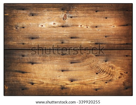 Wooden sign hanging on a rope. isolated on white. - stock photo
