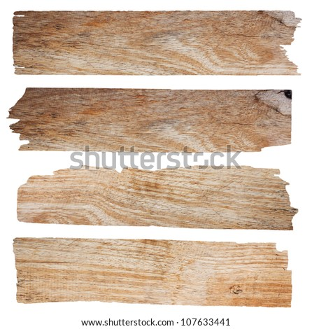 wooden sign, isolated on white background with clipping path