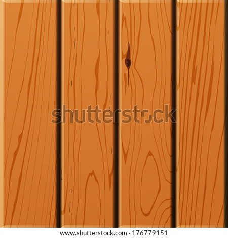 Wooden sign on white background. Raster illustration. - stock photo