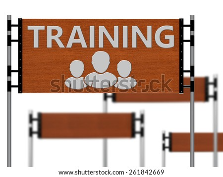 Wooden sign that said training team as concept - stock photo