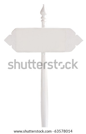 Wooden sign with white symbols on the isolated. - stock photo