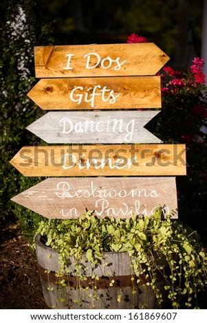 Wooden Signs Wedding Reception Stock Photo 161869607 - Shutterstock