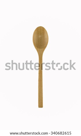 wooden spoon background isolated on white for you design
