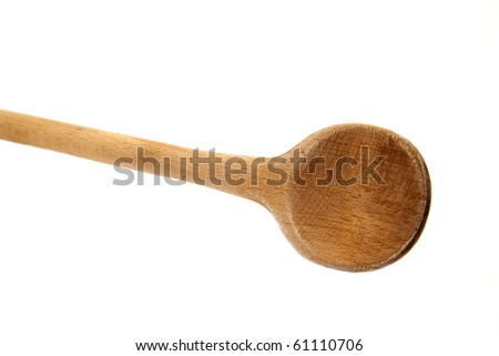 wooden spoon isolated on white