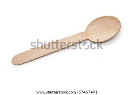 Wooden Spoon with white background