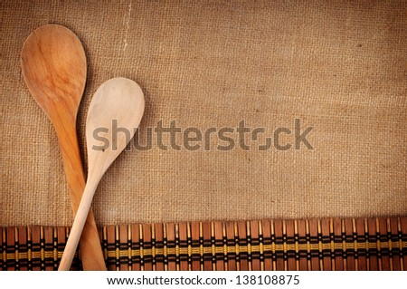 wooden spoons - stock photo