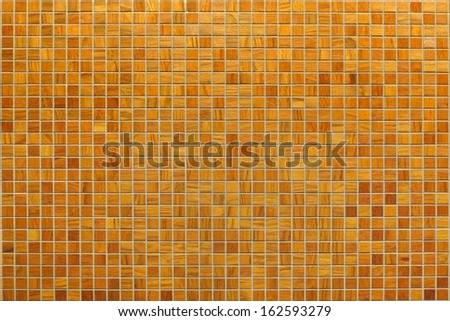 Wooden square mosaic background - stock photo