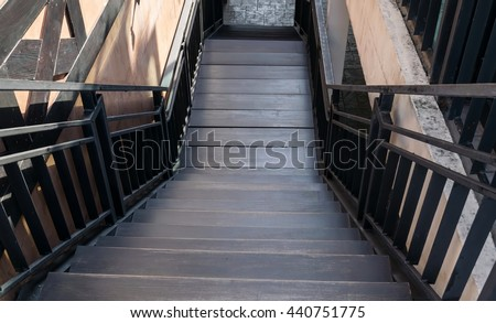 wooden staircases - stock photo