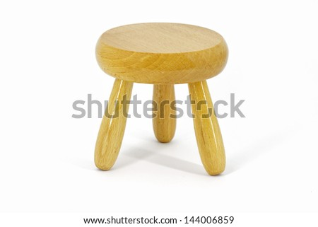 Wooden stool - stock photo