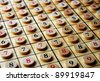 Wooden sudoku  numbers in order . Lucky concept - stock photo