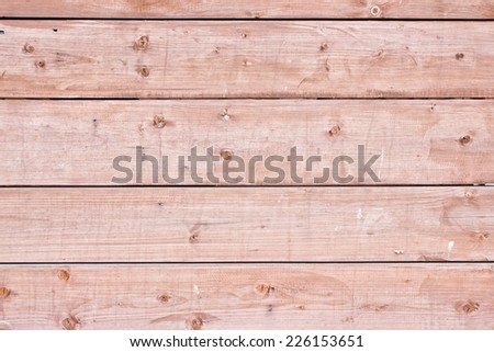 Wooden surface made with brown desks texture.  - stock photo