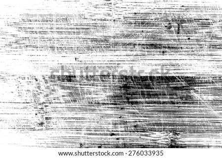 Wooden surface with scratches in black and white. Texture for design and background - stock photo