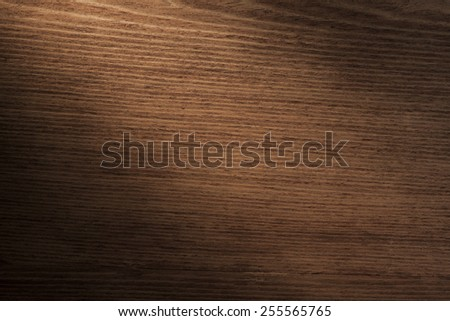 Wooden Table. Top View of Desk with Copy space for text or image. Texture of Wood - stock photo