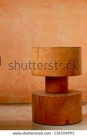 Wooden table vintage - stock photo
