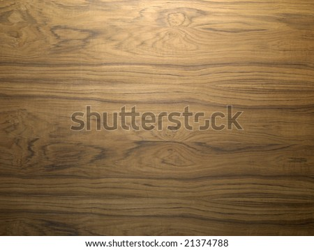 Wooden teak plate - stock photo