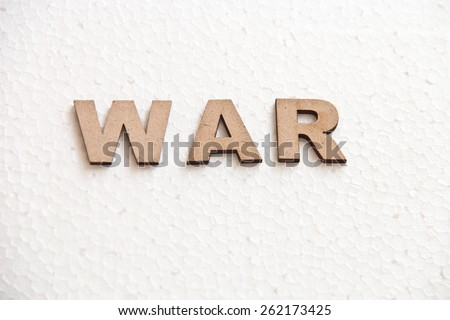 Wooden text on white background that is for world war concept - stock photo