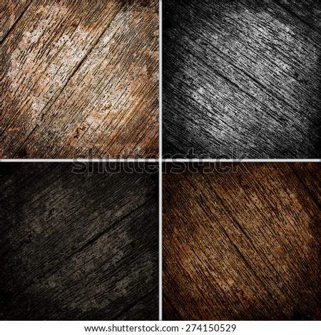 wooden texture background set - stock photo